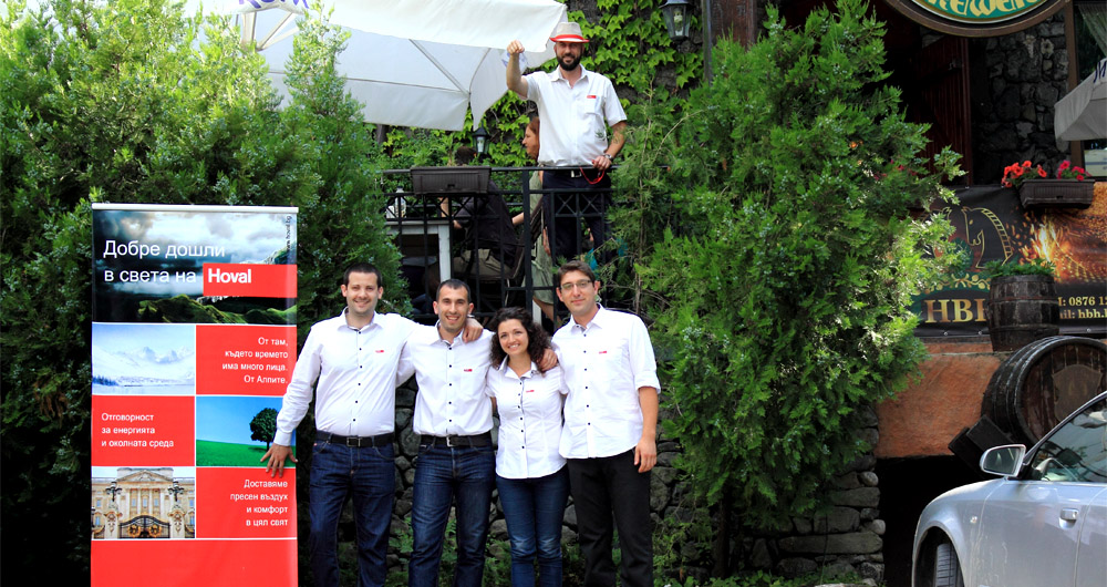 Hoval отбеляза 5 години в България