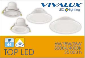 VIVALUX представя нови влагозащитени LED луни за вграждане със степен на защита IP44 - TOP & PUNTO LED