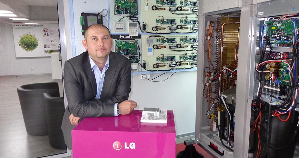 Интервю с Петър Митев, мениджър Продажби на климатична техника за България и Македония в LG Electronics