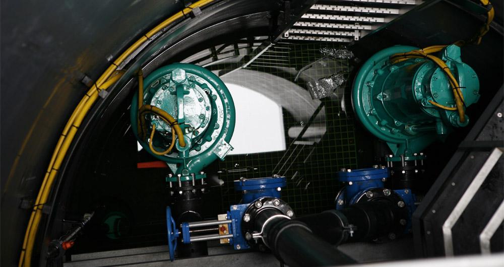 Канализационна система за отделяне на твърди частици